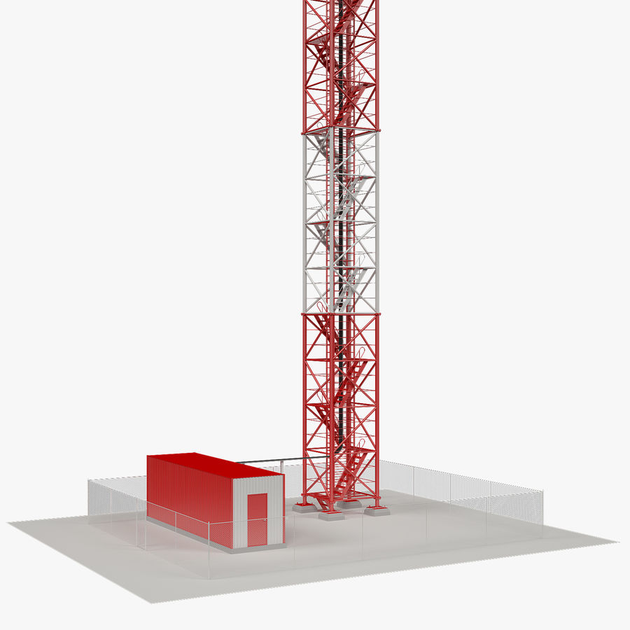 Torre de comunicação royalty-free 3d model - Preview no. 4