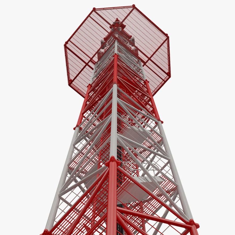 Communication tower royalty-free 3d model - Preview no. 12