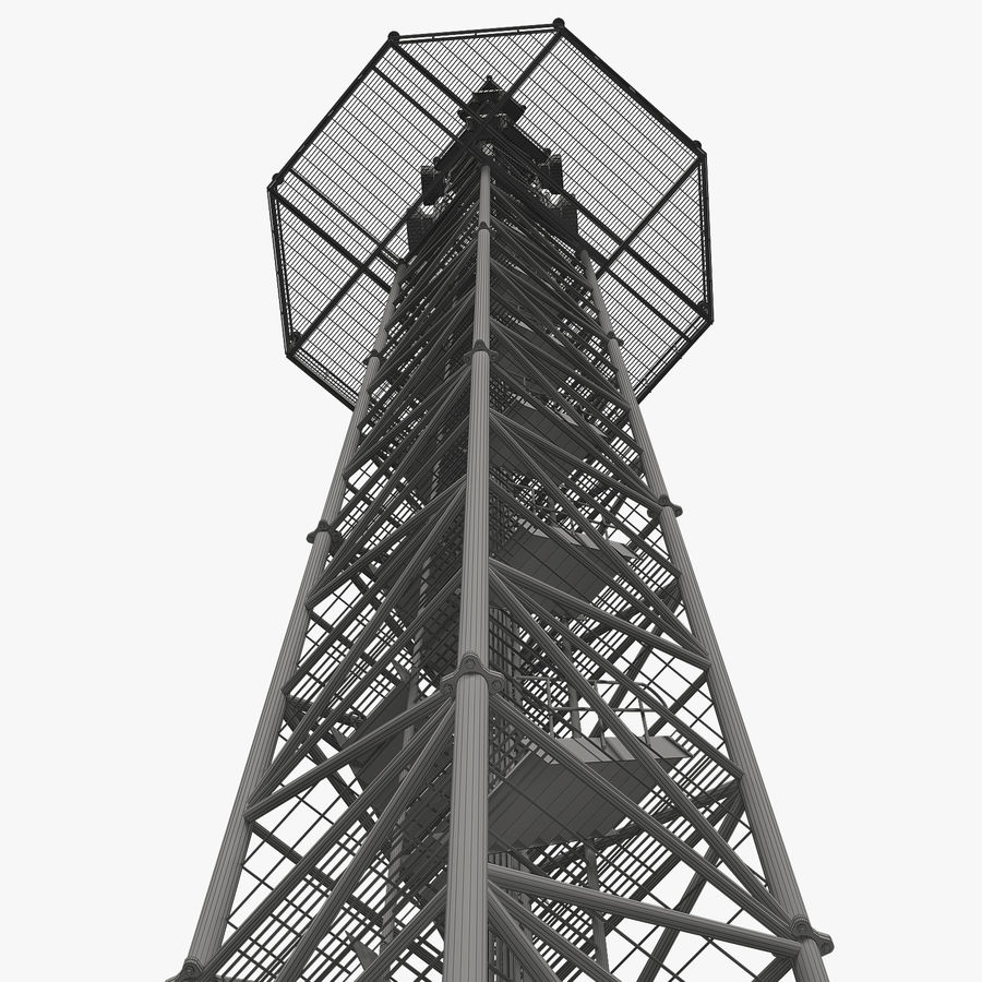 Torre de comunicação royalty-free 3d model - Preview no. 13