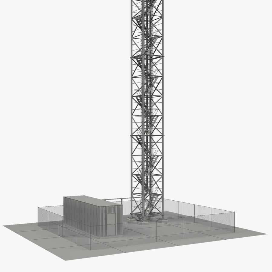 Torre de comunicação royalty-free 3d model - Preview no. 5