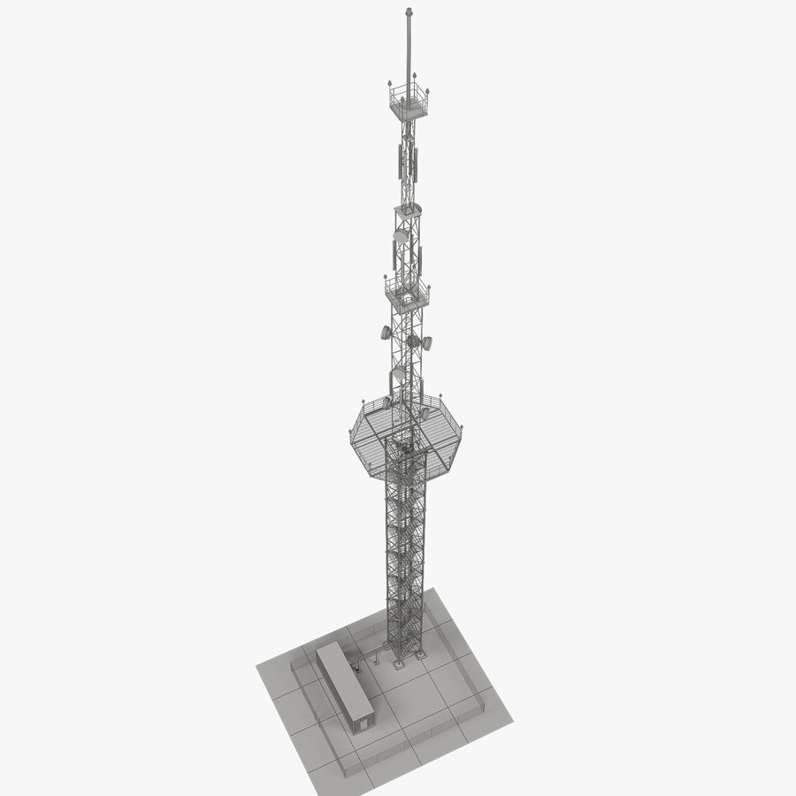 Torre de comunicação royalty-free 3d model - Preview no. 11