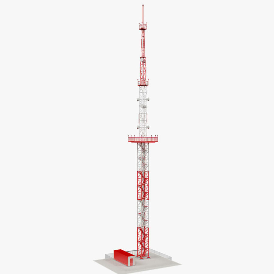 Communication tower royalty-free 3d model - Preview no. 2