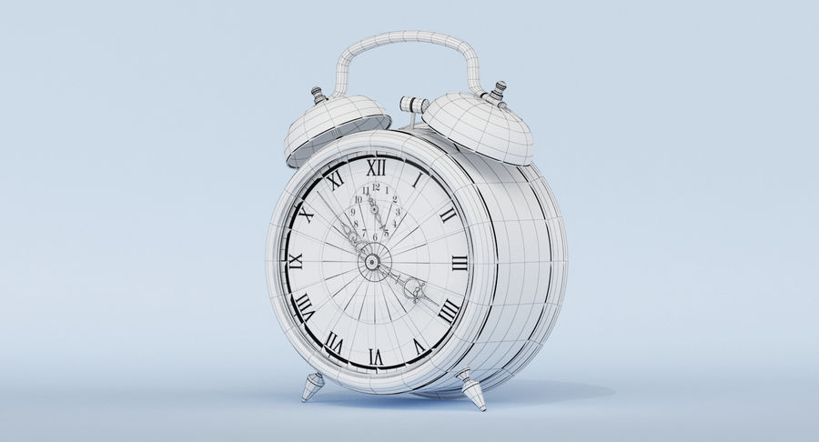 Alarm Clock royalty-free 3d model - Preview no. 25
