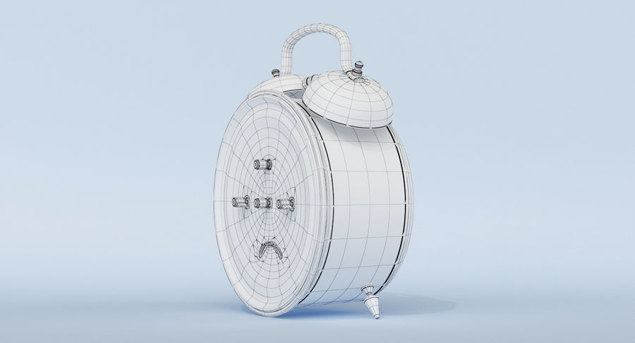 Alarm Clock royalty-free 3d model - Preview no. 18