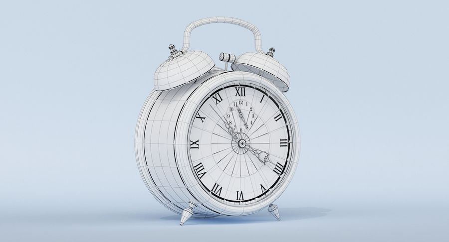Alarm Clock royalty-free 3d model - Preview no. 15