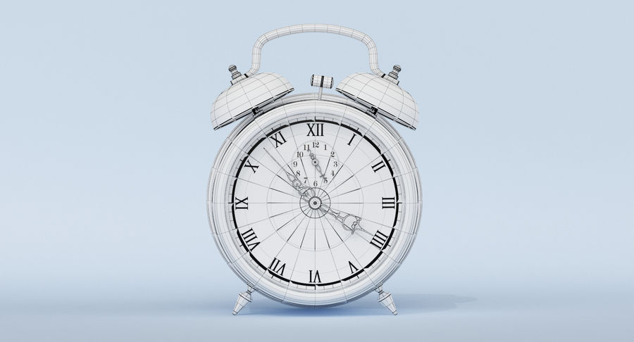 Alarm Clock royalty-free 3d model - Preview no. 14