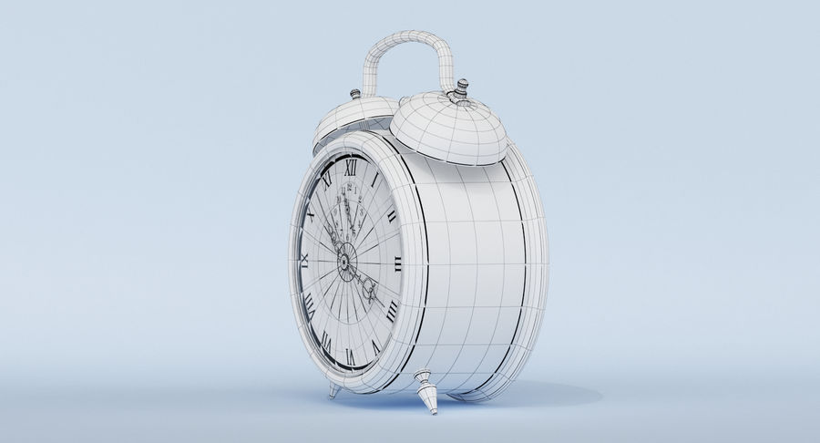 Alarm Clock royalty-free 3d model - Preview no. 24