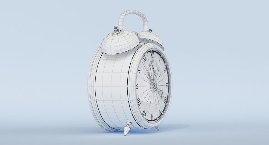 Alarm Clock royalty-free 3d model - Preview no. 16
