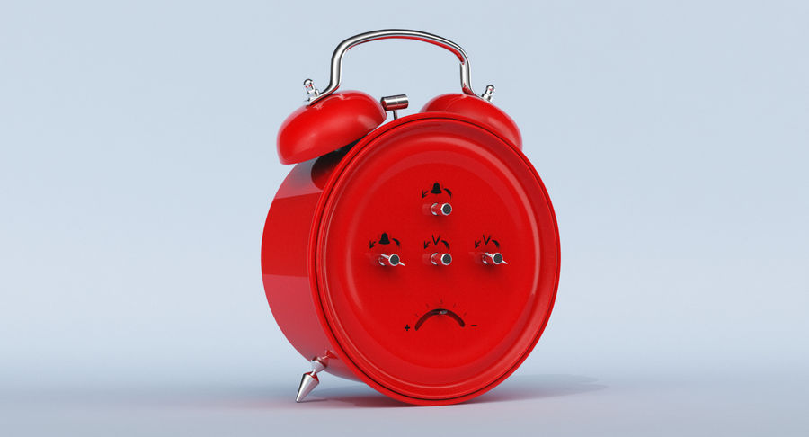 Alarm Clock royalty-free 3d model - Preview no. 9