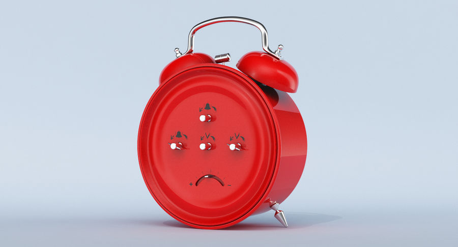 Alarm Clock royalty-free 3d model - Preview no. 7