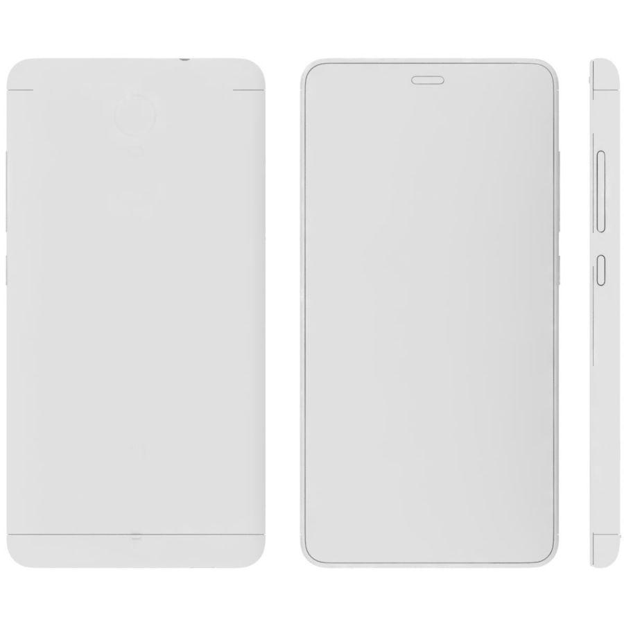 Xiaomi Redmi Note 3 Silver royalty-free 3d model - Preview no. 23