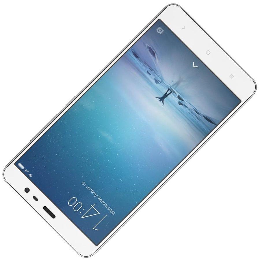 Xiaomi Redmi Note 3 Silver royalty-free 3d model - Preview no. 17