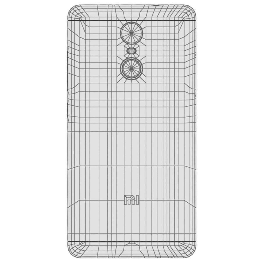 Xiaomi Redmi Note 3 Silver royalty-free 3d model - Preview no. 27
