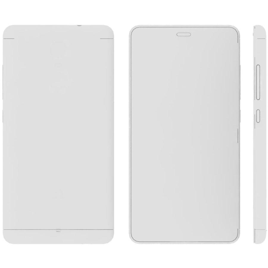Xiaomi Redmi Note 3 Silver royalty-free 3d model - Preview no. 20
