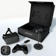 Oculus Rift package low poly 3d model