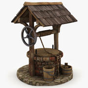 Medieval Water Well game-ready 3d model