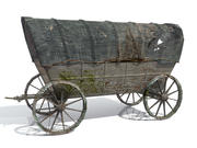 Wild West Waggon (laag poly) 3d model