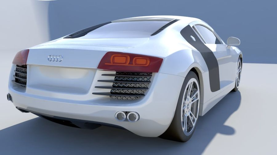 Audi R8 royalty-free 3d model - Preview no. 3