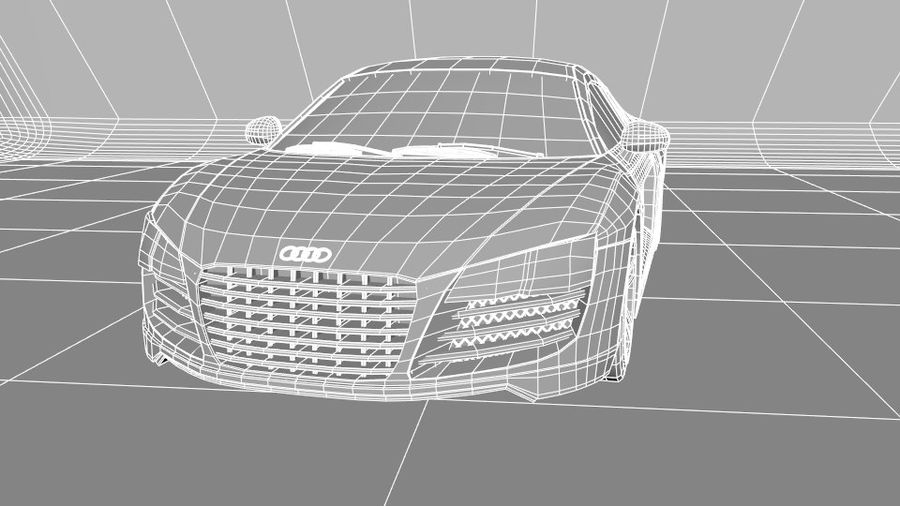 Audi R8 royalty-free 3d model - Preview no. 8