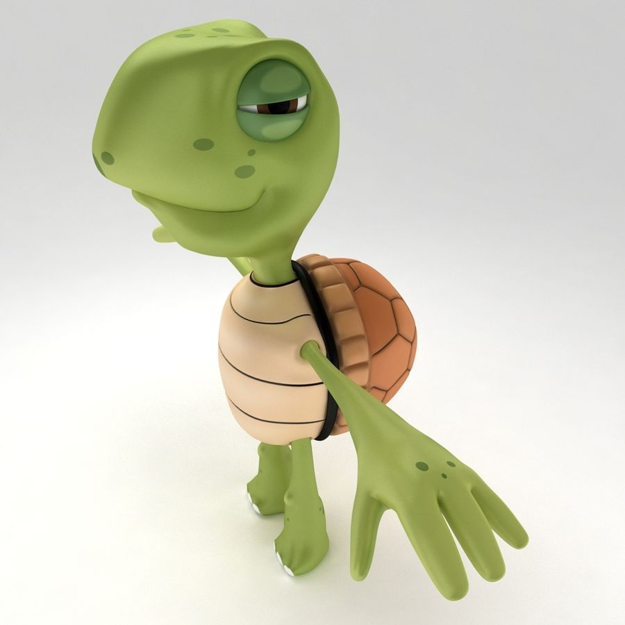 Young Turtle Tortoise model royalty-free 3d model - Preview no. 4