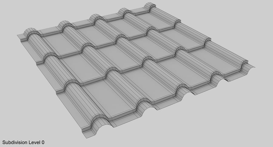 3 Metal Roofing Set royalty-free 3d model - Preview no. 18