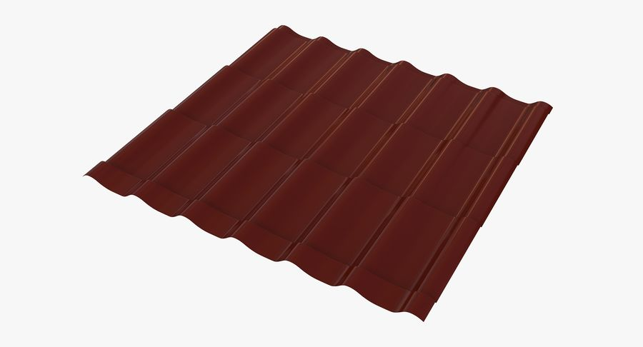 3 Metal Roofing Set royalty-free 3d model - Preview no. 5