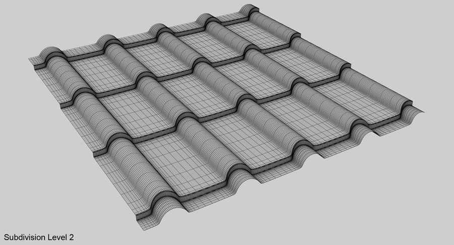 3 Metal Roofing Set royalty-free 3d model - Preview no. 19