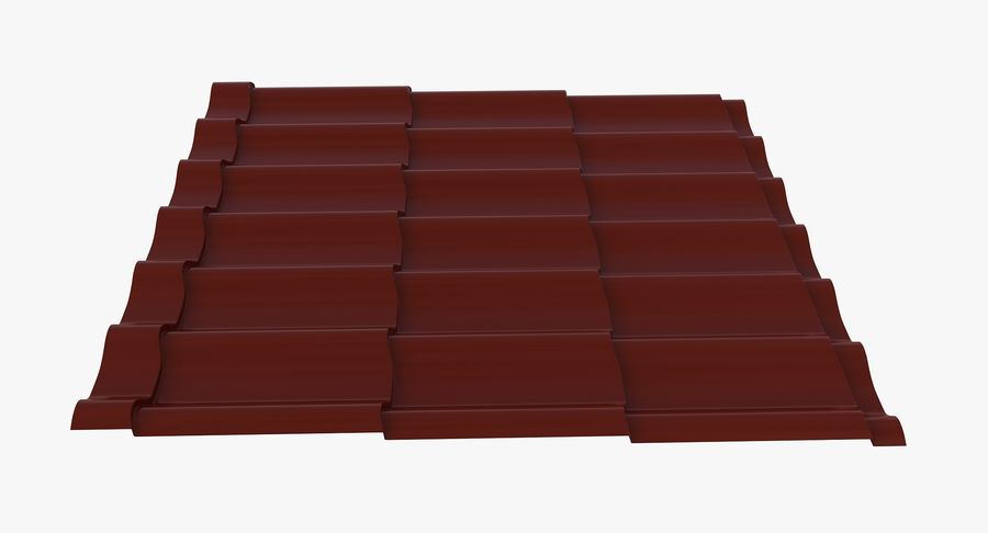 3 Metal Roofing Set royalty-free 3d model - Preview no. 4