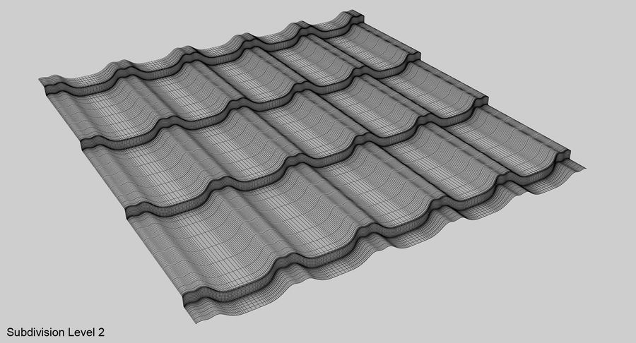 3 Metal Roofing Set royalty-free 3d model - Preview no. 30