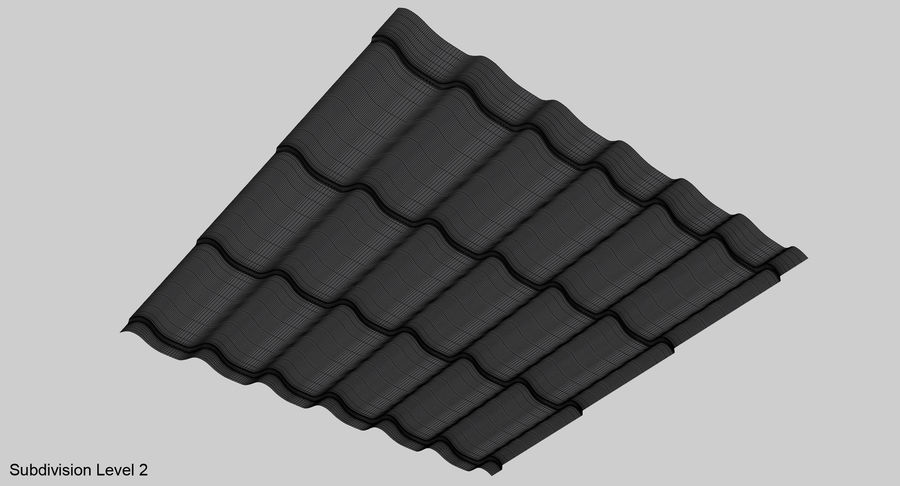 3 Metal Roofing Set royalty-free 3d model - Preview no. 10