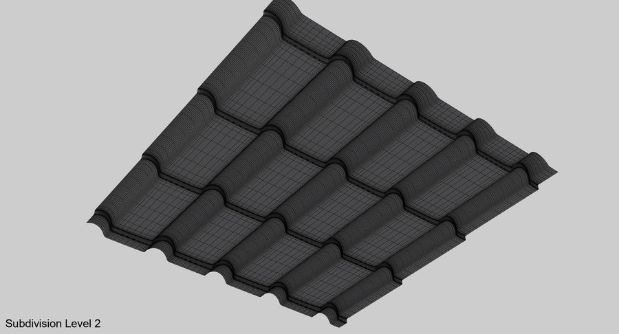 3 Metal Roofing Set royalty-free 3d model - Preview no. 21