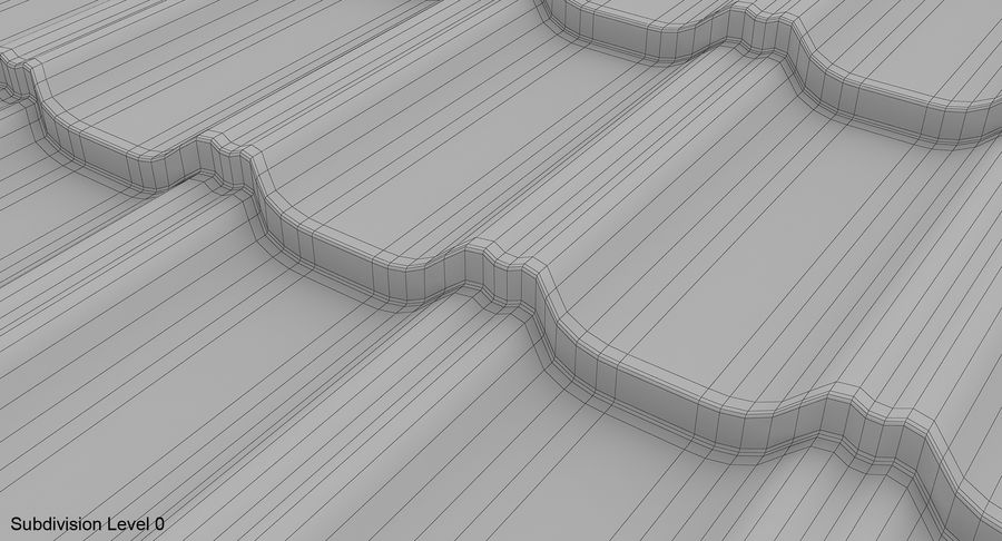 3 Metal Roofing Set royalty-free 3d model - Preview no. 33
