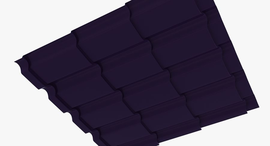 3 Metal Roofing Set royalty-free 3d model - Preview no. 17