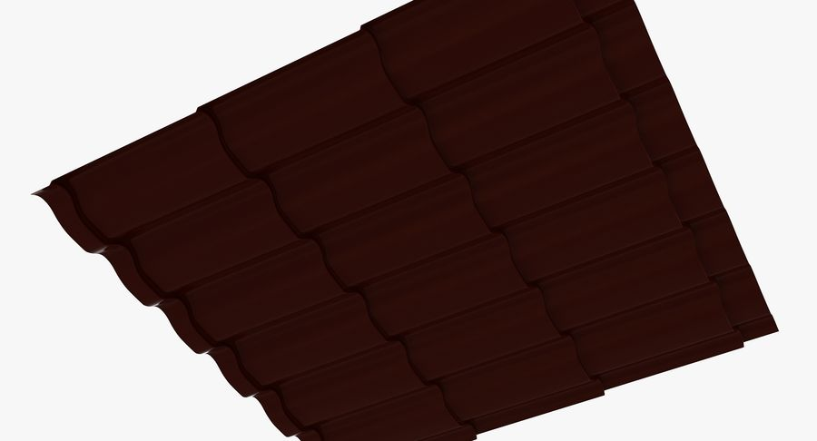 3 Metal Roofing Set royalty-free 3d model - Preview no. 6