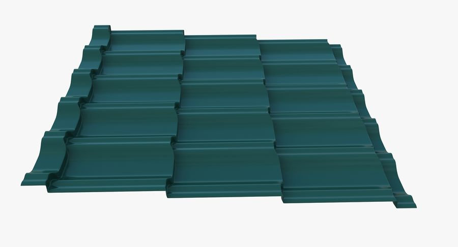 3 Metal Roofing Set royalty-free 3d model - Preview no. 26