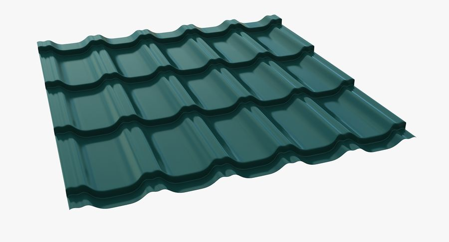 3 Metal Roofing Set royalty-free 3d model - Preview no. 25