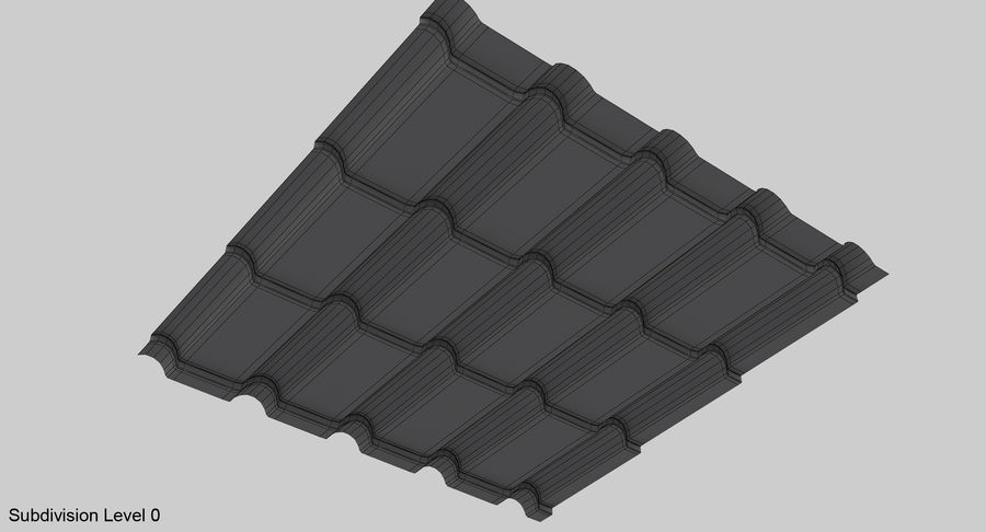 3 Metal Roofing Set royalty-free 3d model - Preview no. 20