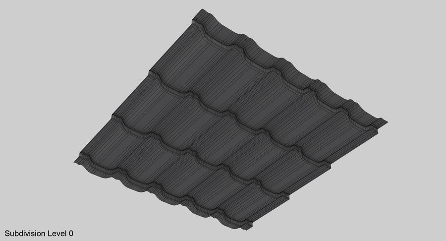 3 Metal Roofing Set royalty-free 3d model - Preview no. 31