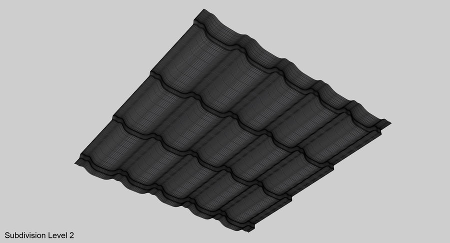 3 Metal Roofing Set royalty-free 3d model - Preview no. 32