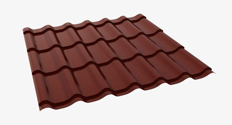 3 Metal Roofing Set royalty-free 3d model - Preview no. 3