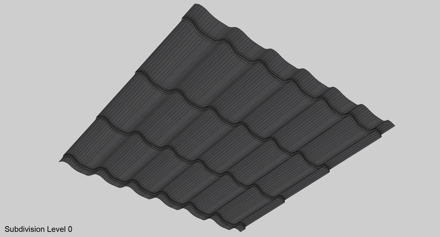 3 Metal Roofing Set royalty-free 3d model - Preview no. 9