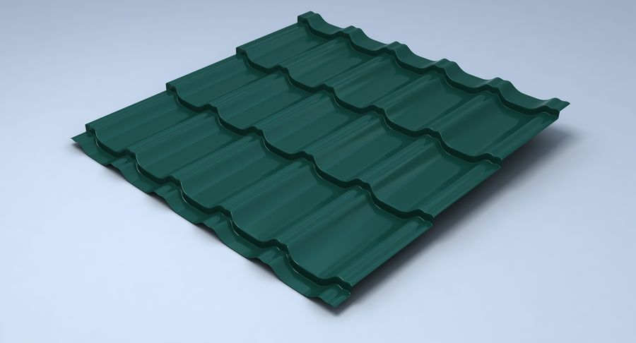 3 Metal Roofing Set royalty-free 3d model - Preview no. 24