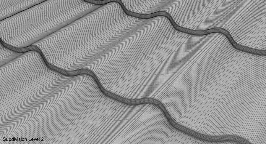 3 Metal Roofing Set royalty-free 3d model - Preview no. 12
