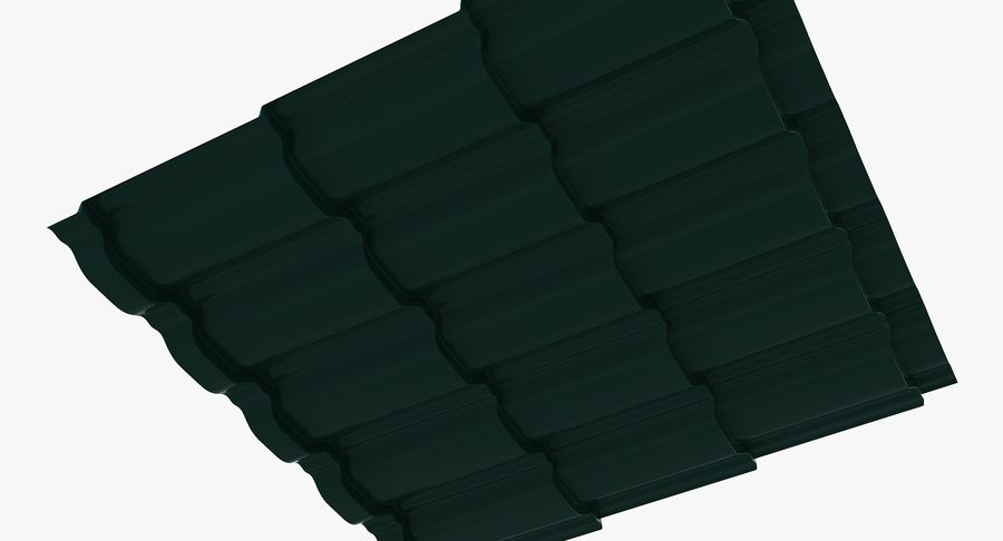 3 Metal Roofing Set royalty-free 3d model - Preview no. 28
