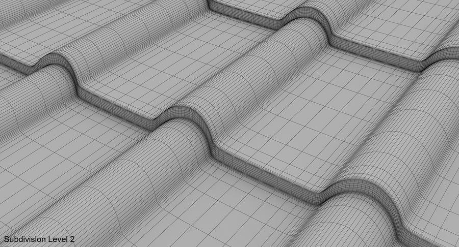 3 Metal Roofing Set royalty-free 3d model - Preview no. 23