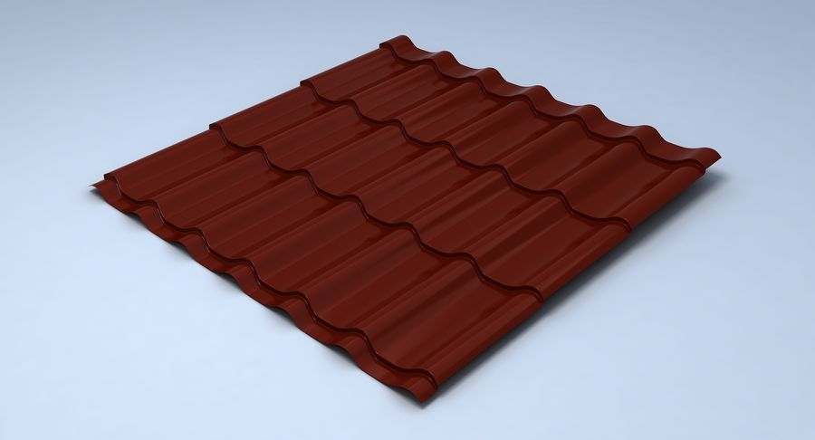 3 Metal Roofing Set royalty-free 3d model - Preview no. 2