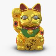 招き猫3ゴールデン 3d model