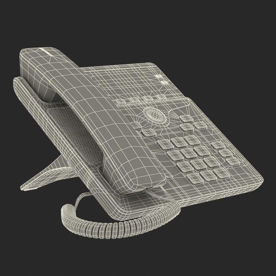 Telefone IP Cisco 7841 royalty-free 3d model - Preview no. 23