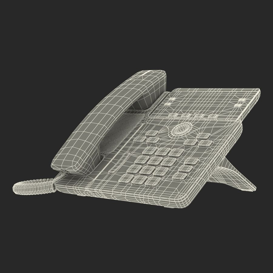 Telefone IP Cisco 7841 royalty-free 3d model - Preview no. 22