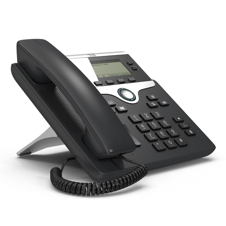 Telefone IP Cisco 7841 royalty-free 3d model - Preview no. 4